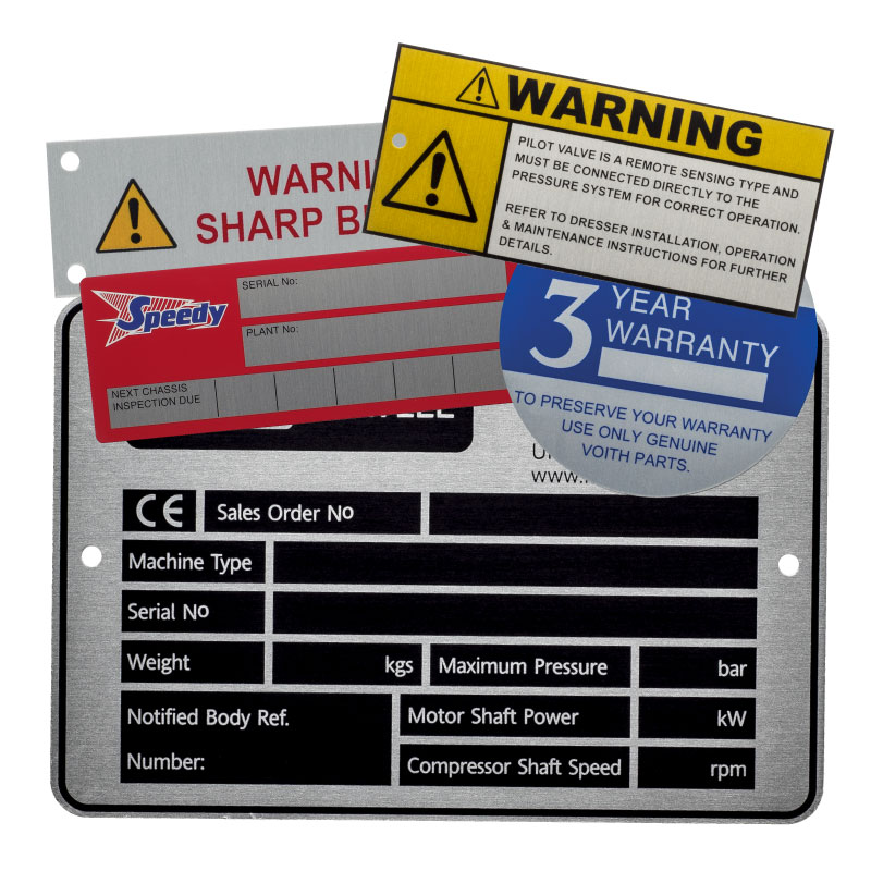 Aluminium Labels UL Approved PGAA PGDQ2