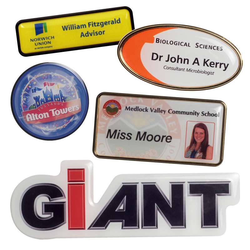 Personnel Badges, Gel badges, 3D Badges, Resin Domed Badges