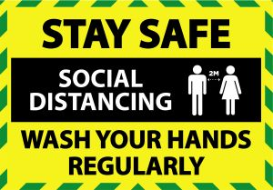 Covid-19 Safety labels, Stay Safe against Coronavirus